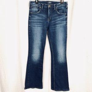 SILVER IZZY BOOTCUT Dark Jeans High Rise 29 x 33